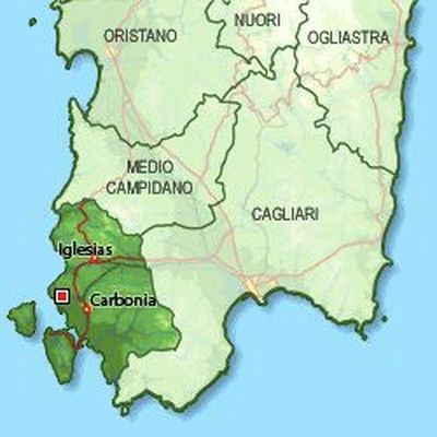 mappa del sulcis